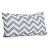 Gray Chevron Small Pillow