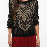 Urban Outfitters - Pins and Needles Patterned Yoke Sweater