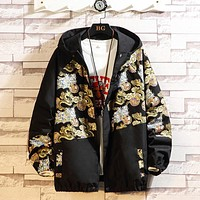 Men Jacket Dragon Hip Hop Jacket Male Casual Fashion Hooded Jacket Harajuku Outerwear Spring Autumn Youth Oversize 5XL