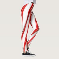 Funky Chrstmas Candy Canes Leggings