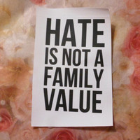 Hate is not a Family Value Patch LGBTQ by TheChurchOfHotCoffee