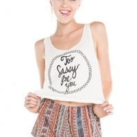 Brandy ♥ Melville |  Too Sassy For You Tank - Graphics