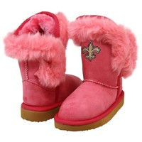 Cuce New Orleans Saints Toddler Girls Mini-Me Fanatic Boots - Pink