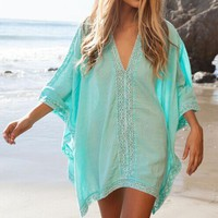 Boho Inspired Lace Beach Cover Up