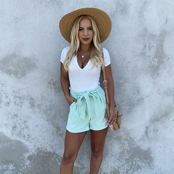 Game On Mint Shorts