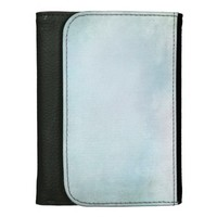 Blue Watercolor Leather Wallets