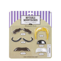 Novelty Character Moustaches Pack - Multi