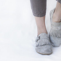 Fringed Frost- Suede Leather Women's Brogue Shoes - CUSTOM FIT