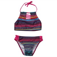 Baby Girls Swimsuit 2017 New Print 2PCS Baby Girl Summer Tankini Swimwear Kid Children Swimsuit Bikini Set Swimsuit