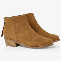 ZIP BACK STACKED HEEL BOOTIE from EXPRESS