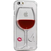 Okai Case for iPhone 6 plus, Fashion Creative 3D flow Liquid Red Wine Glass Transparent Hard Case Cover for iPhone 6 plus 5.5-inch Wine - Rde