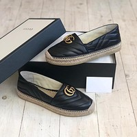 GUCCI GG fisherman's shoes