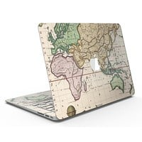 The Vintage Grand Ocean Map - MacBook Air Skin Kit