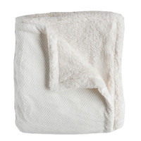 Andrea Queen-size Cream Super Soft Melange Waffle Throw