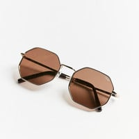 Quay On A Dime Geometric Sunglasses | Urban Outfitters