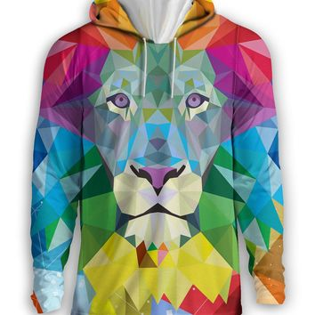 Low Poly Lion Hoodie