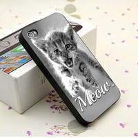 Cute Cats Kitten Meow - Plastic, Silicone Case - iPhone 4 4s 5 5s 5c, Samsung S3 S4
