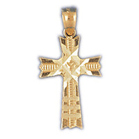 14K GOLD RELIGIOUS CHARM - SMALL CROSS #8282