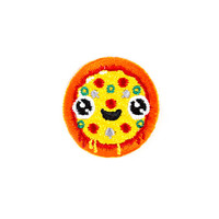 Pizza Face Mini Sticker Patch