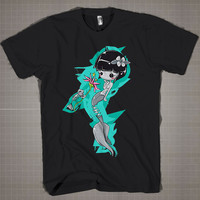 ZOMBIE MERMAID  Mens and Women T-Shirt Available Color Black And White