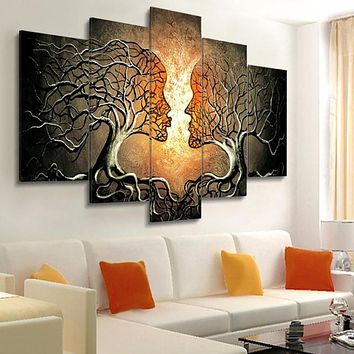 Modern Wall Abstract Prints Canvas Painting 5 Pieces
