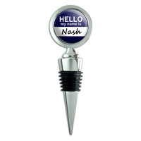 Nash Hello My Name Is Wine Bottle Stopper