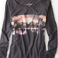 AEO Women's Long Sleeve Graphic T-shirt (Lead)