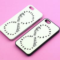 Hakuna Matata- Iphone 4 Case ,Iphone 4S Cover, In Durable Plastic Case Or Silicone ,Black Or White Case Side