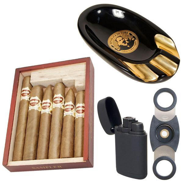 Image of Cuban Crafters Cigars Ashtray and Torch Lighter Combo Hijo