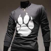 Round-neck Korean Men Long Sleeve T-shirts [10352113411]