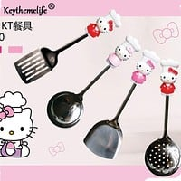 Hello Kitty Kitchenware Stainless Steel Multi-Purpose Spatula/Colander/Hollow spatula Kitchen Tools Utensils 2B