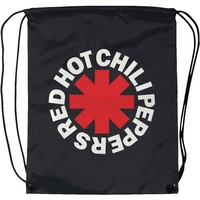 Red Hot Chili Peppers Asterisk Drawstring Backpack Black