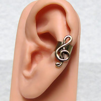 Treble Clef Musical Ear cuff