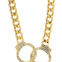 embellished-handcuff-chain-necklace GOLD - GoJane.com