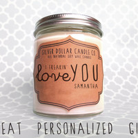 Personalized Candle, Valentines Day Gift, Valentine's gift, Gift for women, personalized valentines gift, gift for him, boyfriend gift, man