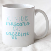 Mascara and Caffeine Mug