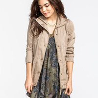 Ashley Anorak Womens Jacket Khaki  In Sizes