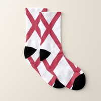 All Over Print Socks with Flag of Alabama, USA