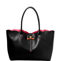 EXTRA BAGGAGE SCALLOP EDGE TOTE: Betsey Johnson