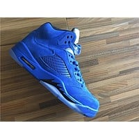 Air Jordan 5 blue raging bulls Basketball Shoes 36-47