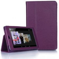 Supcase Google Nexus 7 Tablet Slim Fit Leather Case (Purple) with Stand-Black, Sapphire Blue, Green, Purple, Light Blue, Deep Pink, Deep Blue, Red, Pink, Yellow, White