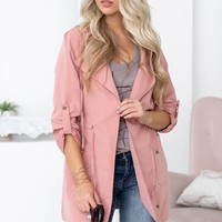 Go To Light Weight Jacket | Antique Rose
