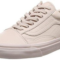 "Vans ""Leather Old Skool"" Sneakers (Mono/Sepia Rose) Unisex Classic Skate Shoes"
