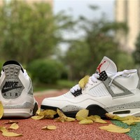 Air Jordan 4 White Cement