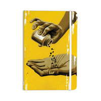 "Thomas Fuchs ""Music as Medicine"" Yellow Brown Everything Notebook"