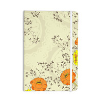 "Nandita Singh ""Flowers and Twigs"" Tan Orange Everything Notebook"