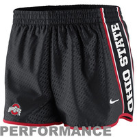 Nike Ohio State Buckeyes Womens Chainmaille Pacer Performance Shorts - Black