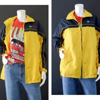 Vintage Jacket, 90s Windbreaker, 80s Windbreaker, Yellow Lightweight Jacket, Montana Souvenir Jacket Rain Weather Jacket,  Men's Size Medium