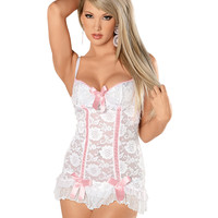 Sweet Desires Ruffled Chemise