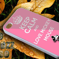 keep calm and love mickey mouse iPhone case,Samsung case,iPhone 4,4S,5,5CS,5c,Samsung S3 i9300,Samsung S4 i9500,Thembozzcase.